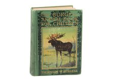 The Burgess Animal Book For Children, Thornton W. Burgess, Signed Autographed Copy, 1920 First Edition, Illustrated Animal Book