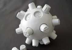 "The ""be-B: Braille Education Ball"" is a method for both blind and sighted users to learn the Braille system using a challenging and educational game. *Visit pinterest.com/wonderbabyorg for more accessible toy ideas!"