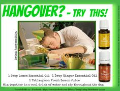 Young Living, Essential Oil Hangover Remedy  www.theoildropper.com