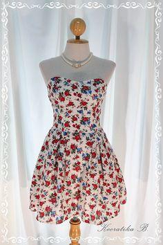 gift, strapless dress