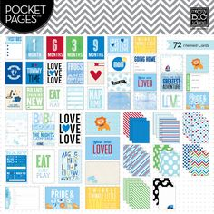Me & My Big Ideas Pocket Pages Themed Cards - Baby Boy (MAYBE WANT)