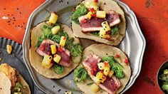 Hawaiian Tuna Tacos