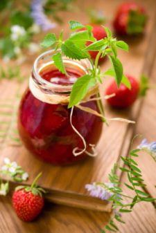 Freezer Jam Recipes -- 1. Pear Raspberry Freezer Jam: 2. Violet Freezer Jam: 3. Gingered Pear Freezer Jam: 4. Kiwi Freezer Jam: 5. Strawberry Kiwi Freezer Jam: 6. Raspberry-Blueberry Freezer Jam: 7. Wild Blueberry Freezer Jam: . 8. Peach Freezer Jam 9. Spiced Apple Pear Freezer Jam: 10. Strawberry Freezer Jam: 11. Honey Strawberry Freezer Jam: 12. Strawberry-Rhubarb Freezer Jam: