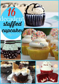 16 Decadent Stuffed Cupcakes {The Weekly Round UP} - This Silly Girl's Life