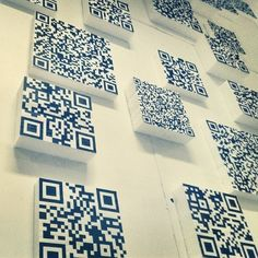 Fun wall art for the techies.  #walls #qrcode best #QR #Code #Ideas repinned by #tatieja