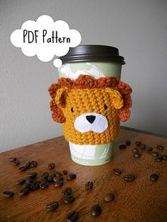 Lionheart Coffee/Tea Cup Cozy FREE PATTERN