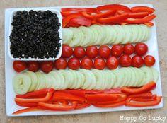 #Patriotic Veggie Platter #July4th