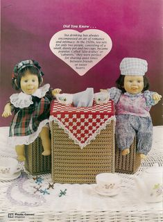 Tea for Two Plastic Canvas Pattern by needlecraftsupershop on Etsy, $3.00