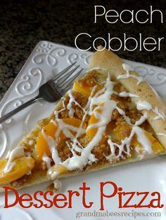 Peach Cobbler Dessert Pizza