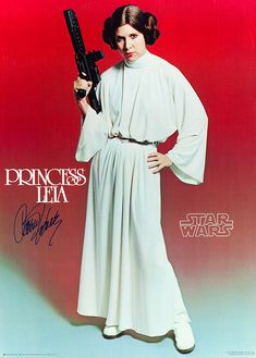 Princess Leia aka Carrie Fisher by avitechwriter, via Flickr  (Wow, a Princess with a Blaster, very attractive...)