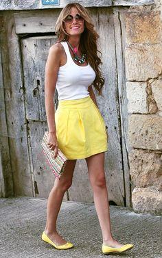 to do: make yellow pleated skirt!