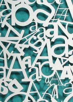 A's cut out on paper #type #font #typographie