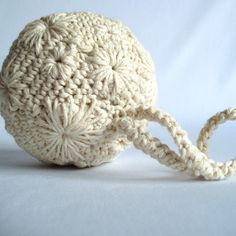 Embroidered and crocheted ornament.