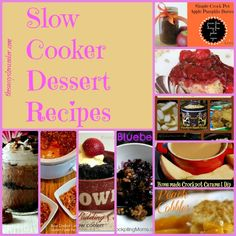 Delicious Slow Cooker Desserts! You can mess these desserts up!