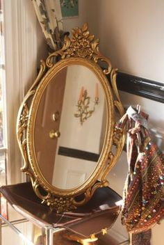 SALE Golden Syroco Rococo Style Mirror by theenchantedfigtree, $49.00