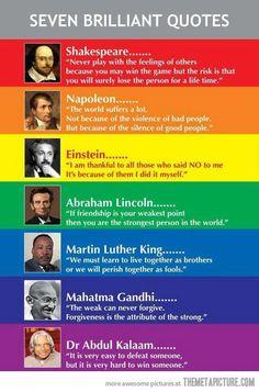 Seven Brilliant Quotes...