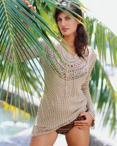 "Beautiful ""Crochet Top'' & I love the natural color...there is a chart!"