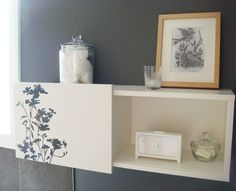 Great idea for dolling up the Ikea Brimnes wall cabinets - how will we use our two?