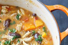 Hearty Chicken Stew with Butternut Squash and Quinoa via Cookin' Canuck