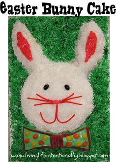 Easy directions to make an #easter Bunny Cake.