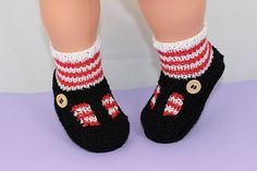 Ravelry: Baby Stripe Sock and T Bar Sandal Booties pattern by Christine Grant