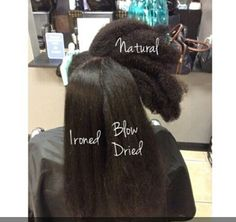 States of natural hair