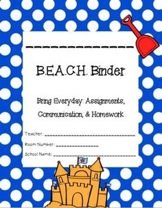 Beach Communication & Organization Binder {Editable}
