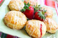 fruit-filled puff pastry with lemon glaze