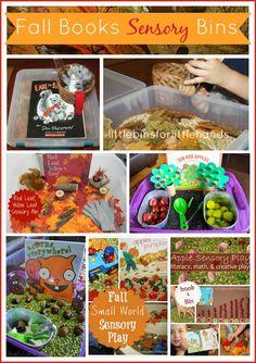 Books With Fall Sensory Bins