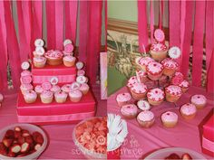 Wrapped/stacked cupcake stand!