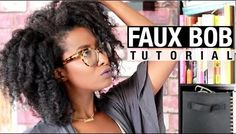 Get The Look: A Simple And Very Easy Faux Bob On Natural Hair  Read the article here - http://www.blackhairinformation.com/uncategorized/get-look-simple-easy-faux-bob-natural-hair/ #fauxbob #naturalhairstyles