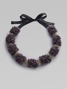 La Via 18  Chiffon & Bead Necklace