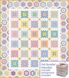 Almost a Flower Garden Free Pattern: Robert Kaufman Fabric Company