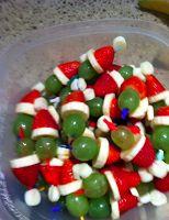 Grinch Fruit Kabobs! #vegan #christmas #idea #recipe
