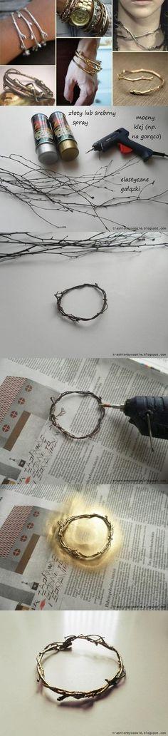 DIY Tree Branch Bracelet