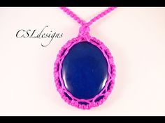 How to wrap a stone/cabochon with macrame series - Nr 1 Looping technique - YouTube