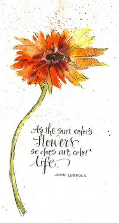 Flower and lettering by Martha Lever