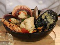 Paila marina y Machas a la parmesana