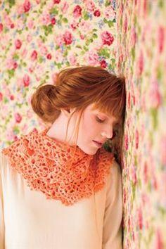 Delicate crochet lace makes an elegant cowl. Mango Infinity Cowl - Media - Crochet Me