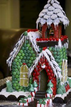 holiday, craft, idea, season, gingerbreadhous, food, gingerbread church, gingerbread houses, christma