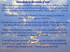 Immodesty... quotes from men