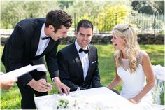 """""""Provence-Destination-wedding-photography"""" Signing the certificate is fun!"""