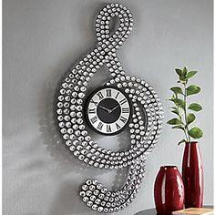 Treble Clef Gem Clock