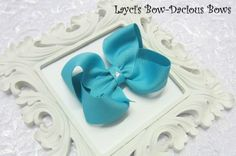 Large Turquoise Boutique Hair Bow