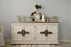 Vintage Buffet Makeover {Pottery Barn Inspired}