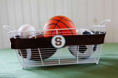 Sports Party Table Decor