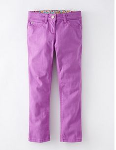 Pantone Orchid 2014 in kids clothes: Twill jeans from Boden
