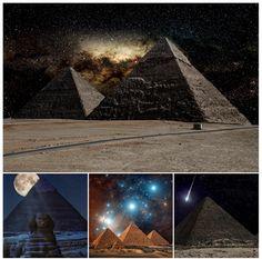Beautiful views the Egyptian pyramids see every night