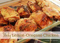 table for seven: Sticky Lemon- Oregano Chicken