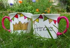 Bone China Childs Gold Crown Princess Mug Available Personalized FREE